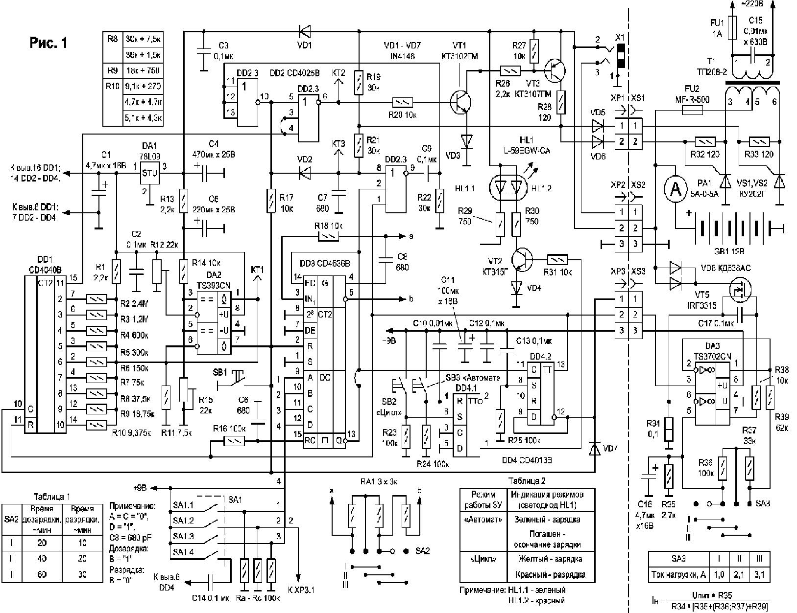 Ремонт зарядного устройства вымпел 55 своими руками 99